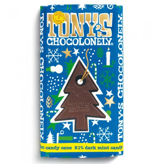 Tony's Chocolonely Candy Cane Chocolate 180g