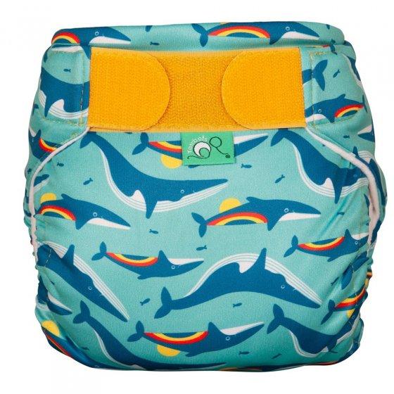 Tots Bots Swim Nappy - Rainbow Whales