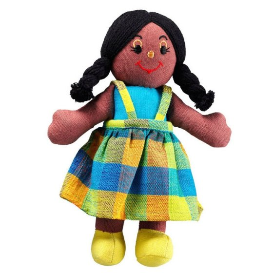 Lanka Kade Girl Doll - Black Skin, Black Hair