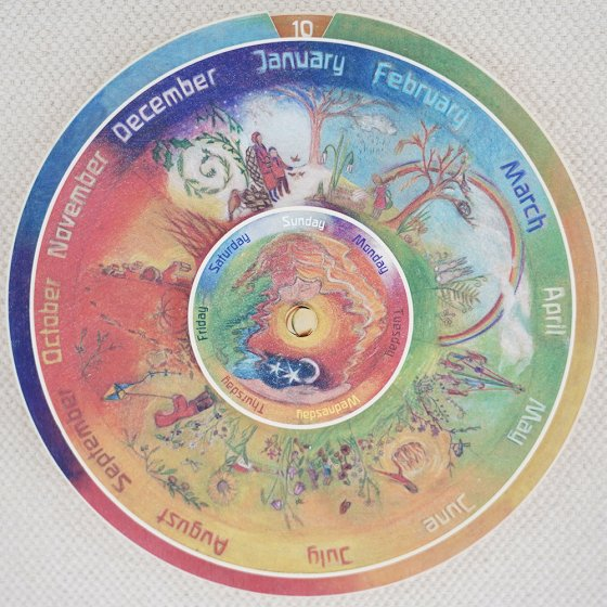 Waldorf Family Northern Hemisphere Perpetual Calendar