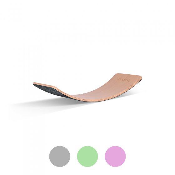 Wobbel Starter balance board with felt on a white background