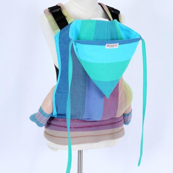 Wompat Medium Baby Carrier - Vanamo Rainbow Blue