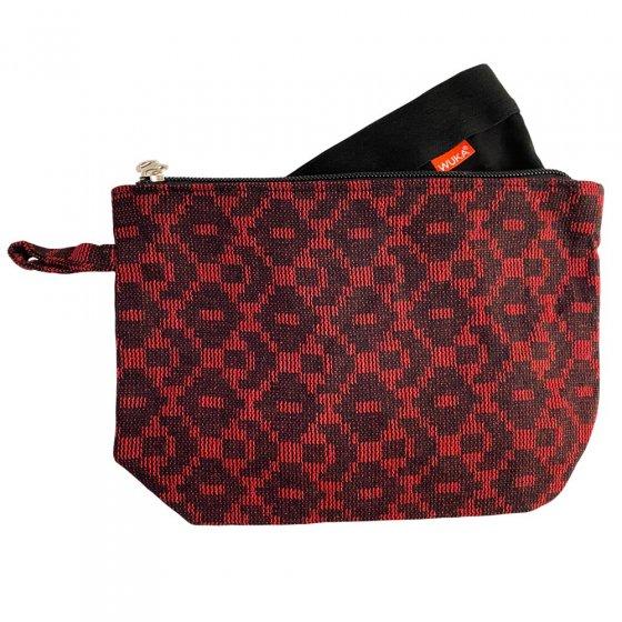 Wuka Wash Bag - Dhaka Red and Black