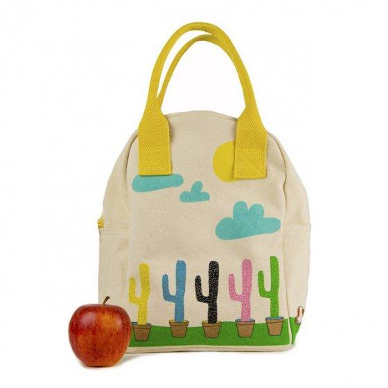 Fluf Zipper Lunch Bag - Cactus