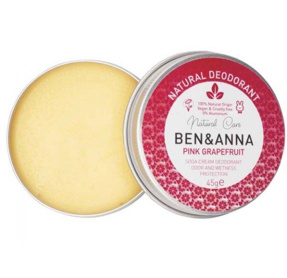 Ben & Anna Soda Cream Deodorant Tin Pink Grapefruit
