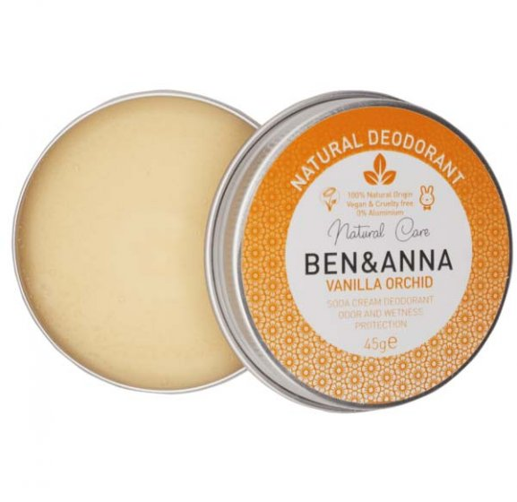 Ben & Anna Soda Cream Deodorant Tin Vanilla Orchid