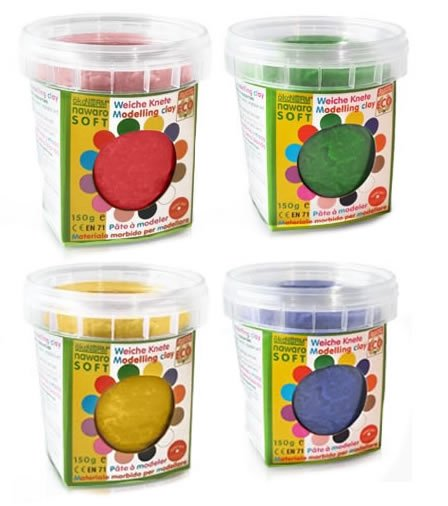 OkoNorm Play Dough 4 Primary Colours