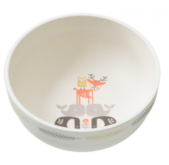Fresk Forest Animals Bamboo Bowl