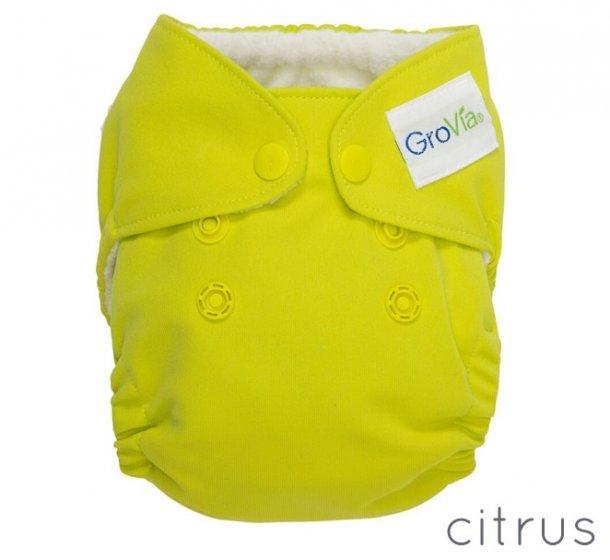 GroVia Newborn Cloth Nappy-Citrus