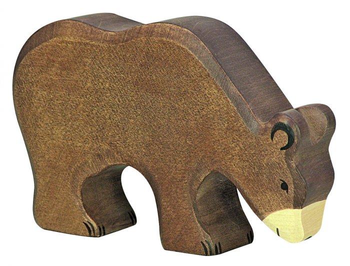 Holztiger Feeding Brown Bear