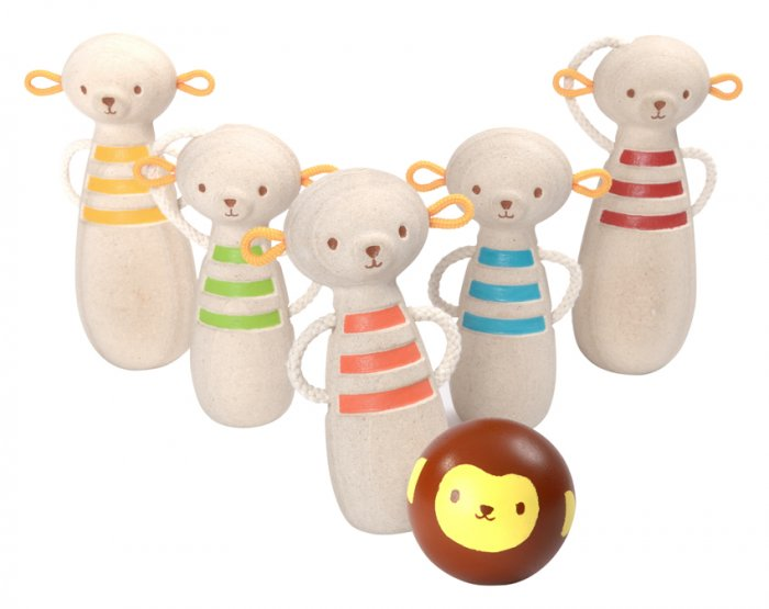 Plan Toys Monkey Bowling