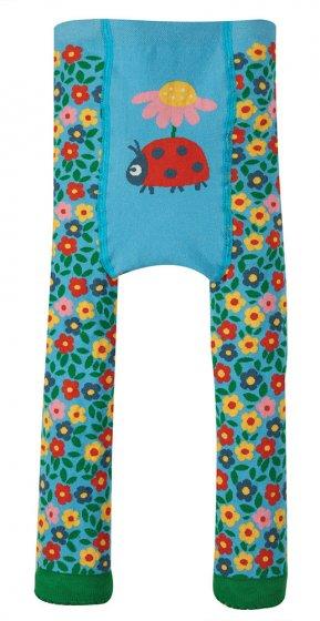 Frugi little knitted leggings ladybird