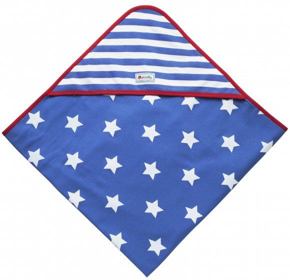 Piccalilly Stars & Stripes Hooded Blanket