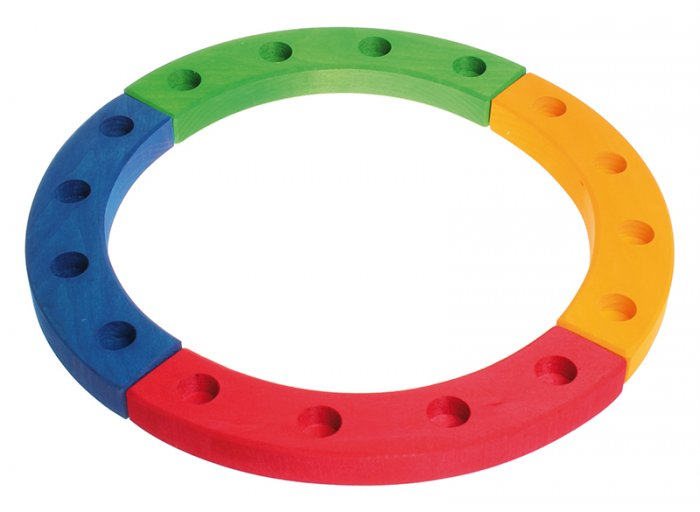 Grimm's 16-Hole Coloured Wooden Ring