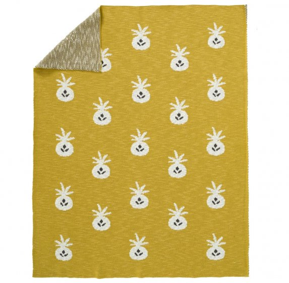 Fresk Pineapple Knitted Blanket 100cm x 150cm