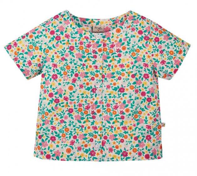Frugi Estella floral button down shirt