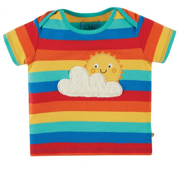 Frugi bobster applique rainbow tshirt