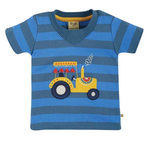 Frugi easy on applique truck tshirt