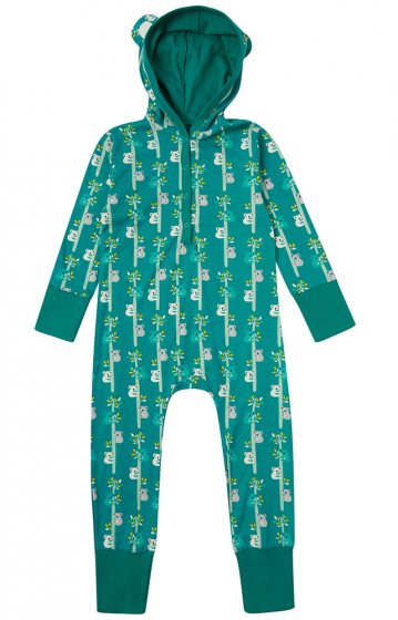 Piccalilly Koala print hooded playsuit
