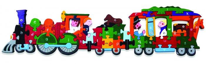 Alphabet Jigsaws Alphabet & Number Train
