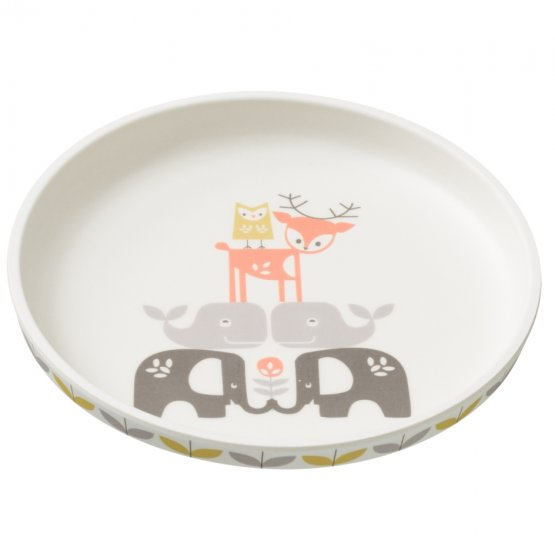 Fresk Forest Animals Bamboo Plate