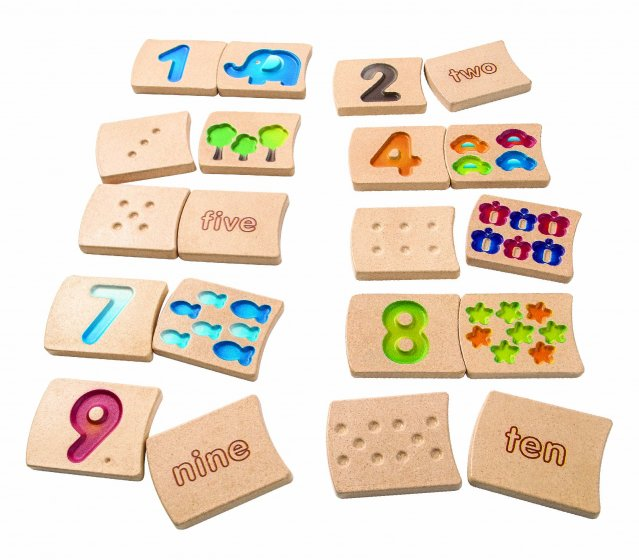 Plan Toys Planwood Numbers 1-10