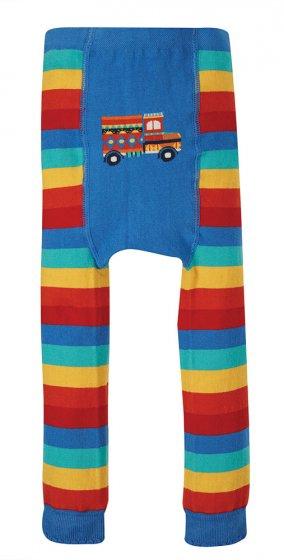 Frugi little knitted leggings rainbow