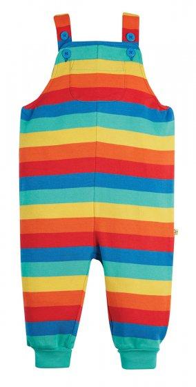 Frugi Parsnip Rainbow Dungaree short cuffs