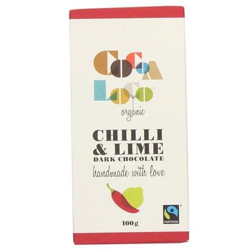 Cocoa Loco Dark Chocolate Chilli & Lime Bar 100g