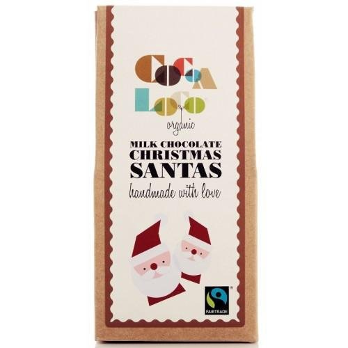 Cocoa Loco Milk Chocolate Santas 100g