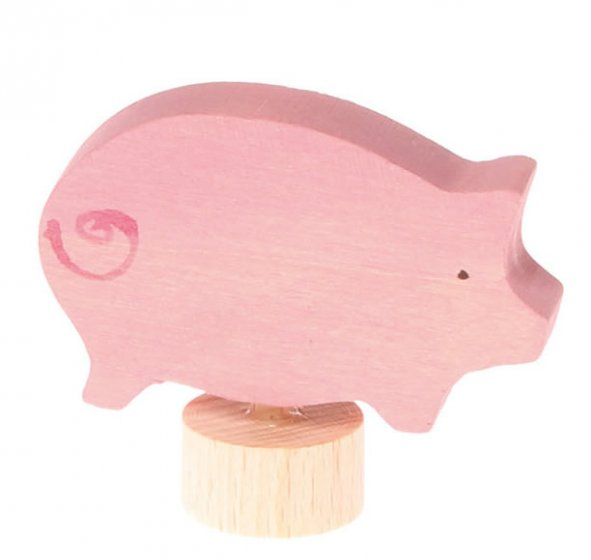 Grimm's Pink Pig Decorative Figure