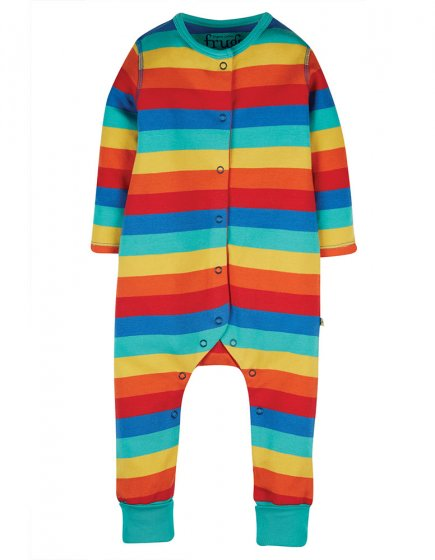 Frugi Riley Romper Rainbow babygrow