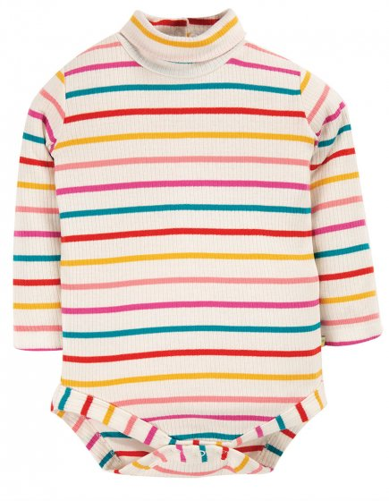 Frugi Ginger Rainbow Breton Poppy Roll Neck Body