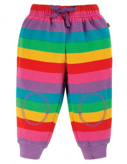 Frugi Foxglove Rainbow Stripe Snuggle Crawlers