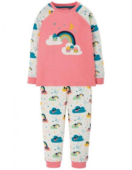 Frugi Guava Pink Rainbow Ace Pyjamas