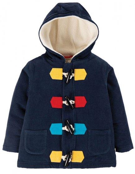 Frugi indigo Kit Cord Duffle Coat