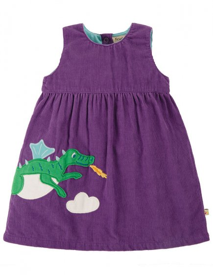 Frugi Thistle Dragon Lily Cord Dress