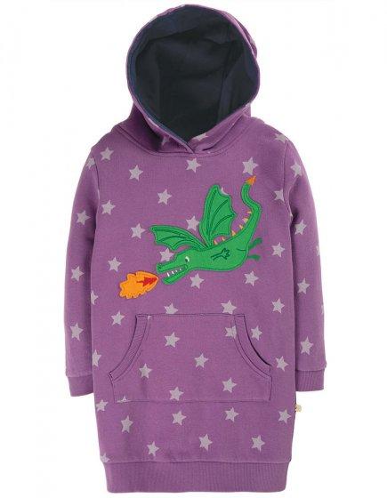 Frugi Thistle Star Dragon Harriet Hoody Dress
