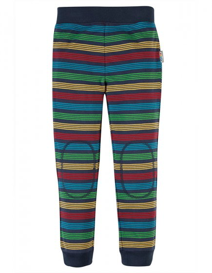 Frugi Tombermory Rainbow Stripe Favourite Cuffed Leggings