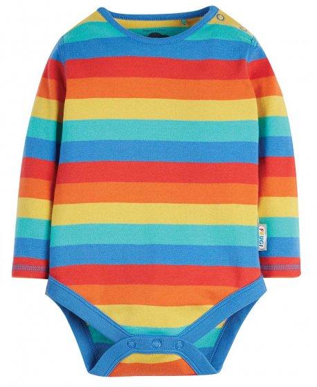 Frugi Rainbow Stripe Favourite LS Body