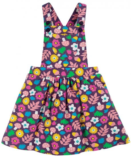 Frugi Aubergine Lost Words Pixie Pinafore Dress