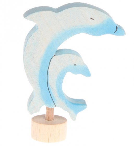 Grimm's Two Dolphins Decorative Figure