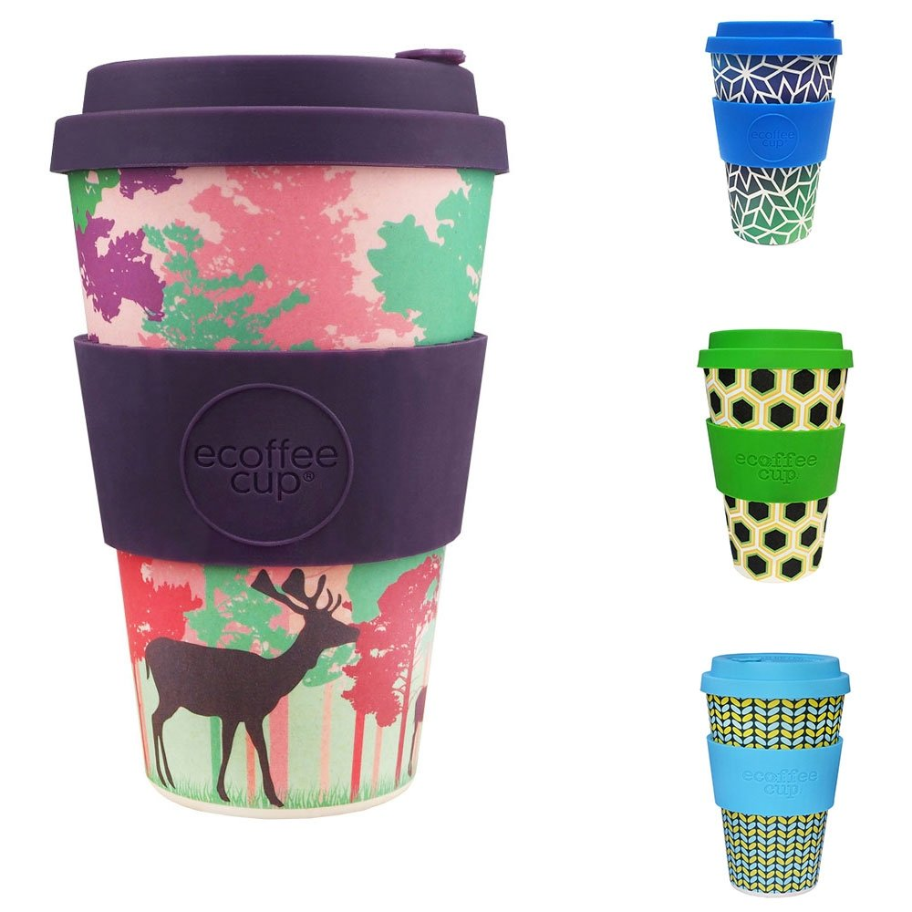 Ecoffee Cup Large 14oz Bamboo Coffee Cup Colours