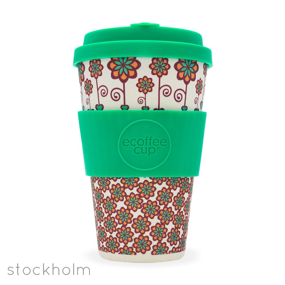 Ecoffee Cup Large 14oz Bamboo Coffee Cup Patterns