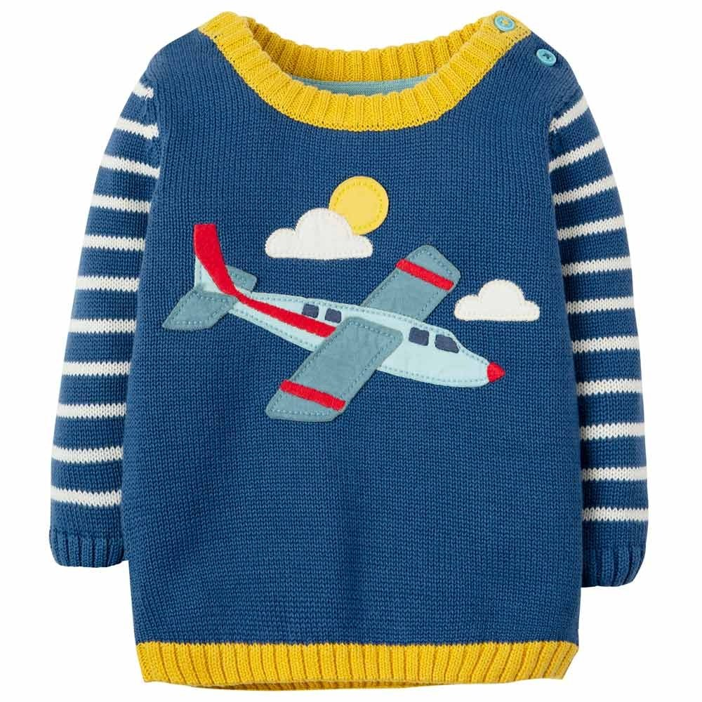 Piccalilly Organic Cotton Baby Boys Two-Piece Clothing Set Plane Design