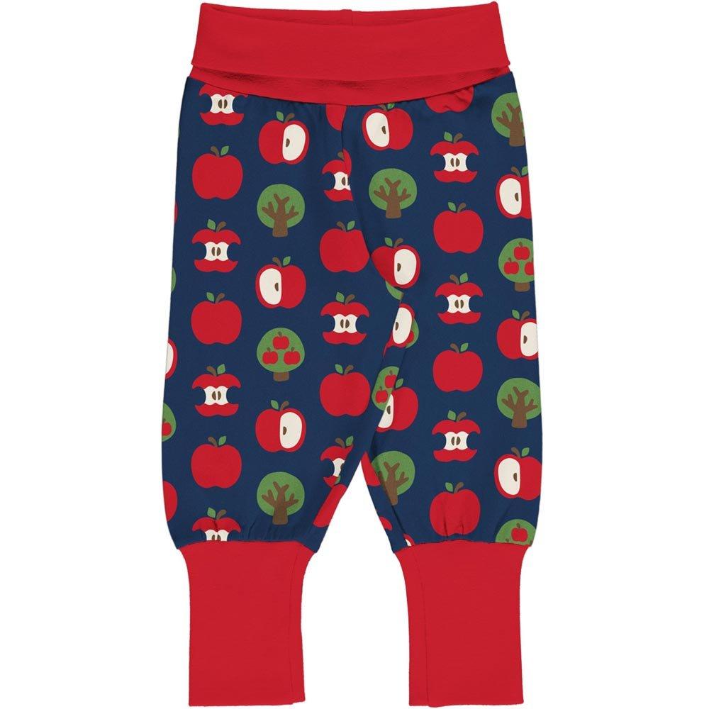Maxomorra Baby Pants Rib Apple