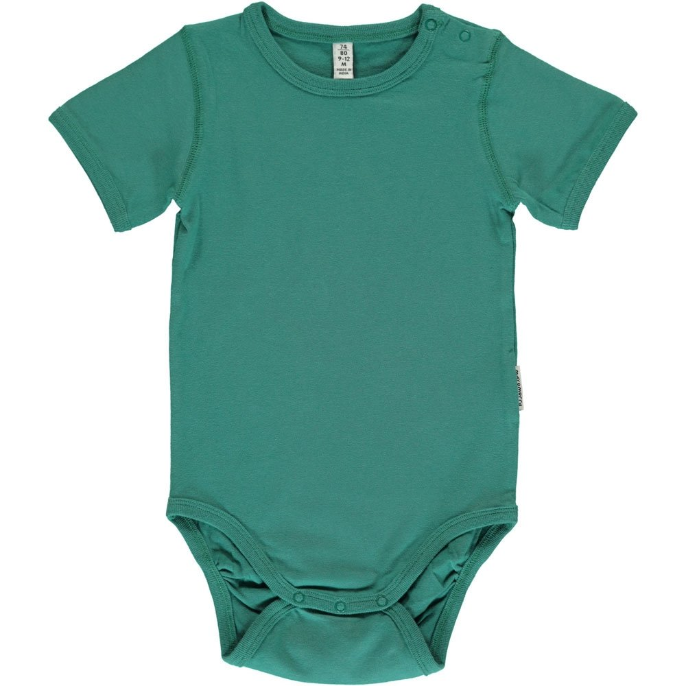 Maxomorra Long Sleeved Basic Body Vest Soft Petrol