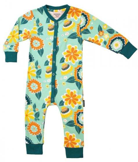 Moromini Mumbai Flower Market Green Baby Pyjamas