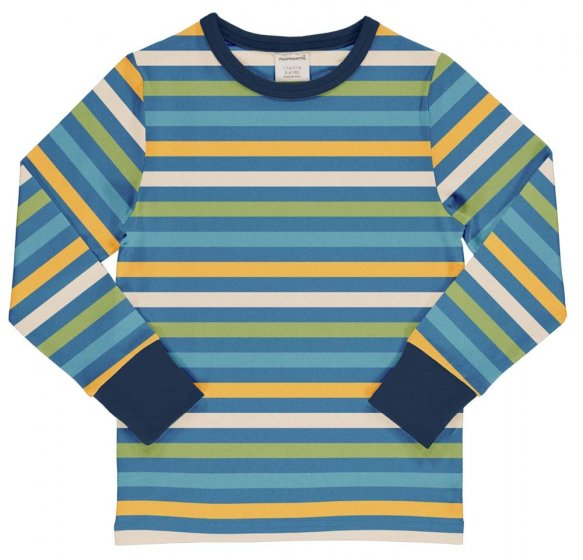Maxomorra Ocean Stripe LS Top