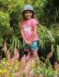 Frugi Mid Pink Horse Sophia Slub T-Shirt